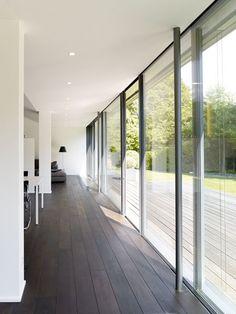 Rahmenlose Schiebefenster: Burckhardt`s SOREG-glide, System 150