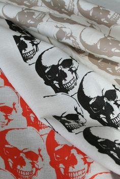 Skull print kitchen towels