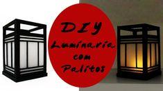 DIY: Como Fazer uma Luminária Oriental com Palitos de Picolé e Churrasco