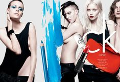 Lara Stone, Abbey Lee Kershaw, Fei Fei Sun, Ruby Aldridge & Others for CK One Cosmetics S/S 2012 Campaign by David Sims