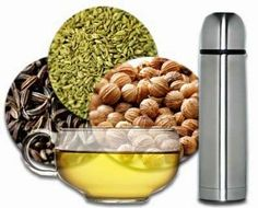 Ayuredic tea for digestion 1 lt water, tsp each fennel, cumin, and coriander; Healthy Smoothies, Healthy Drinks, Healthy Life, Healthy Living, Dog Food Recipes, Healthy Recipes, Nutrition, Protein Foods, Detox Drinks