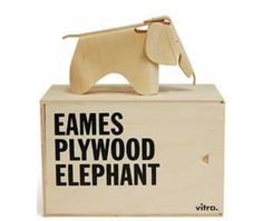 This is the Eames Elephant and it is designed by Ray and Charles Eames in 1945 for Vitra. This is actually a kids toy, and it is originally made out of plywood, but is now redesigned and available in plastic. You can get it in many different colors, such as classic red, light pink, dark lime, ice grey and white. The Eames Elephant is very robust, and is , and is designed to be played with, even outdoors.