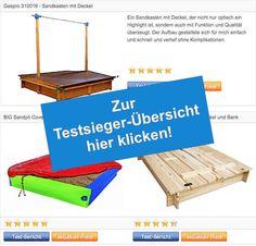 Vergleichstabelle Testsieger - Sandkasten mit Deckel - Schaltflaeche