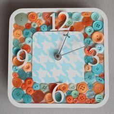 bricolage - faire une horloge avec des boutons