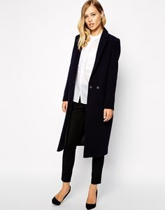 Longline coat - oh yes! I can not get enough of them this season. This one have the perfect classic design! A coat there always will be classic and elegant. Find it here: http://www.asos.com/Whistles/Whistles-Holly-Longline-Coat/Prod/pgeproduct.aspx?iid=4461412&cid=6930&sh=0&pge=1&pgesize=36&sort=-1&clr=Navy