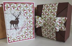 christmas card and box - stampin with beemybear