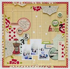 Love the playing cards on a layout. Will be great for when the family gets together to play cards!