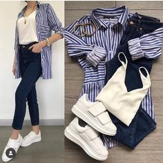 Beautiful fall outfit with shirt Cute Outfits With Jeans, Simple Outfits, Chic Outfits, Trendy Outfits, Fall Outfits, Fashion Outfits, Fashion Trends, Modern Hijab Fashion, Colorful Fashion