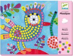 Djeco ~ Mosaics ~ Bird & Ladybird Craft Kits For Kids, Crafts For Kids, Arts And Crafts, Art Stuff For Kids, Art For Kids, Mosaic Crafts, Mosaic Projects, Faber Castell, Mosaic Kits