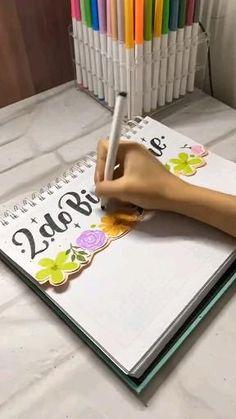 Bullet Journal Writing, Bullet Journal Inspo, Scrapbook Journal, Animal Wallpaper, School Hacks, Art Plastique, Little Gifts, Handwriting, Ideas Para