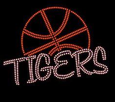 Tigers basketball  Rhinestone bling shirt Blingitallover@gmail.com www.facebook.com/Blingitallover
