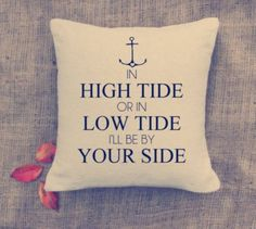 Anchor Pillow - Custom Pillows - Nautical throw pillow - Cottage deco - Home deco. Description from pinterest.com. I searched for this on bing.com/images