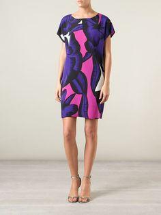 Diane Von Furstenberg Printed Shift Dress - Gallery Andorra - Farfetch.com
