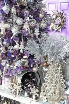 ❤Gorgeous purple and silver.