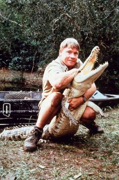 Steve Irwin, The Crocodile Hunter - I miss him :-( Terri Irwin, Steve Irwin, Irwin Family, Crocodile Hunter, Bindi Irwin, Crocodiles, Alligators, I Miss Him, Back In The Day