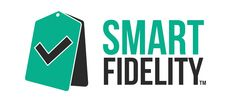 Logotipo SmartFidelity sobre fondo claro.  SmartFidelity será una aplicación móvil realizada por Adrián Mateos que permitirá fidelizar clientes ofreciendo ventajas y ofertas con cada compra.