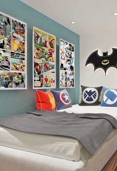 A young boy's bedroom is the best place to let some creativity loose and disp. Boys Bedroom Furniture, Kids Bedroom Boys, Boys Bedroom Decor, Bedroom Themes, Boy Room, Preteen Boys Room, Childrens Bedrooms Boys, Young Boys Bedroom Ideas, Diy Bedroom