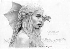 Game of Thrones Daenerys Targaryen by JoseAngelVillar.deviantart.com on @deviantART
