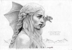 Game of Thrones Daenerys Targaryen by JoseAngelVillar.deviantart.com on @deviantART