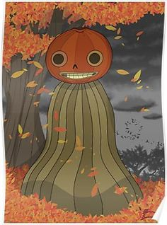 'Enoch Over the Garden Wall' Poster by BrinSmif Garden Wall Art, Over The Garden Wall, Halloween Art, Vintage Halloween, Wall Drawing, Fandoms, Illustrations, Wall Wallpaper, Gravity Falls