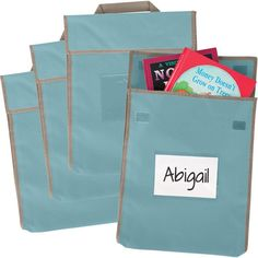 Store More Large Book Pouches Shoreline Water Set Of 36