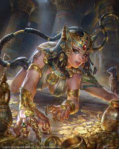 Bastet Artwork from Mobius Final Fantasy Dark Fantasy Art, Fantasy Girl, Fantasy Artwork, Fantasy Kunst, Fantasy Art Women, Fantasy Warrior, Anime Fantasy, Woman Warrior, Fantasy Character Design