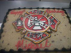 fire dept, cute cake