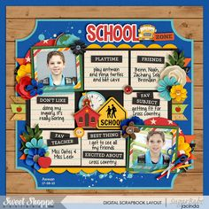 Schooled: First Day by Kristin Cronin-Barrow Cindy's Templates - Sequentials 5 to 8: Set 8 by Cindy Schneider