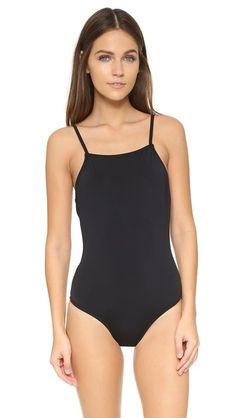 Black Beth richards  swimsuit  for woman A Beth Richards swimsuit in a minimalist silhouette. Shelf bra gives additional support. Lined. 80% polyamide/20% elastane. Wash cold. Made in Canada. Size & Fit. Available sizes: S,XS #bathingsuit
