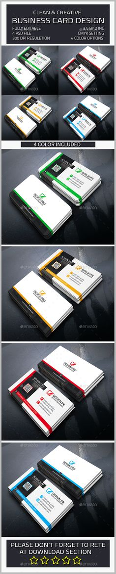 Corporate Business Card Template PSD #design Download: http://graphicriver.net/item/corporate-business-card/14262816?ref=ksioks