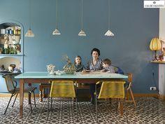 Via Casa de Valentina www.casadevalenti... #modern #dining #decor #design #details #color #casadevalentina