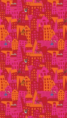 Maja Lindberg - city pattern | Majali Design & Illustration