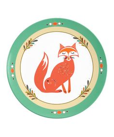 Take a look at this Green Fox Plate by Finny and Zook on #zulily today!