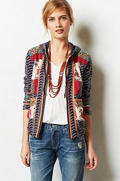 Patchscape Jacket from Anthropologie. Saved to My Wishlist. Shop more products from Anthropologie on Wanelo. Mode Style, Style Me, Boho, Gauze Dress, Casual Elegance, Lace Tops, Refashion, Pretty Outfits, Jeans