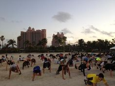 Beachbody workout in the Bahamas
