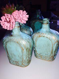 Crown Royal bottle vases