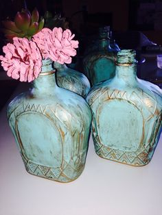 Crown Royal bottle vases