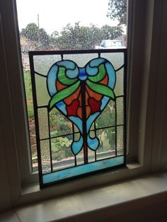 Suncatcher Victorian Stained Glass Panel |