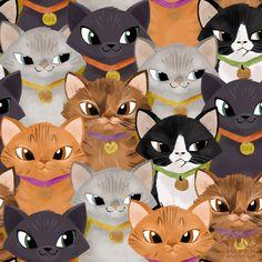 Daily Pattern: Kitten Excitement.