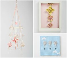 Nuppi offers handmade baby mobiles, shaped cushions and wall art for your nursery.  These items and more in this lovely shop in Etsy