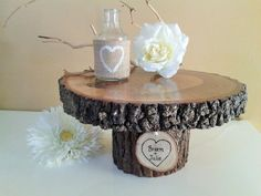 TREASURY ITEM  11 Rustic Wedding Cake Stand  Wood by JTLCREATIONS