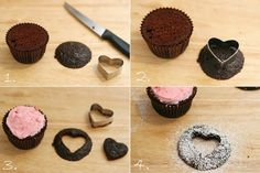 Glorious Treats » Sweet Heart Cupcakes (find a daisy cookie cutter & do this for GMTD 62