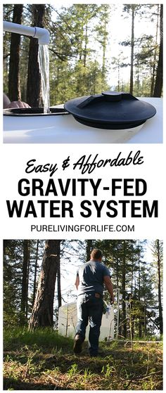 Great way to set up a water system that's both affordable AND uses gravity rather than electricity to work! #offgrid #homsteading