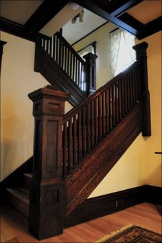 1911 Craftsman Staircase | by American Vintage Home