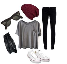 Comfy and casual (: I like the beanie x