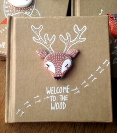"""Carnet """"Welcome to the wood"""" oMamaWolf illustration et porcelaine froide"""