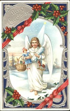 Angel with Toys Merry Christmas
