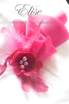 pink magenta 2 in 1 headpiece or pins