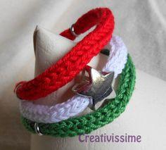 W l'Italia!! braccialetto triccotin italia  di CREATIVISSIME su DaWanda.com
