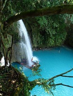 Beautiful  Waterfall Pool, Cebu, The Philippines